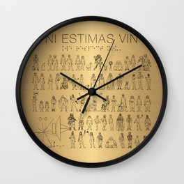 The Postmodern Pioneer Plaque Wall Clock
