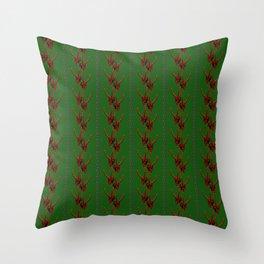 Season's Greetings from the Krampus Throw Pillow