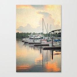 Little Pink Sailboat Canvas Print