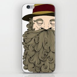 Musky Old Man iPhone Skin
