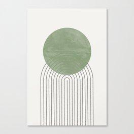 Green Sun Positive Vibe  Canvas Print