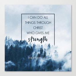 Forest Philippians 4:13 Canvas Print
