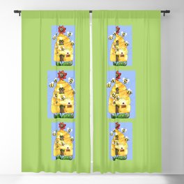 Busy Bees Blackout Curtain