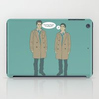 kevin russ iPad Cases featuring Cas & Kevin - Supernatural by Justyna Rerak