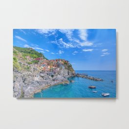 Manarola is a beautiful small town in the province of La Spezia Metal Print