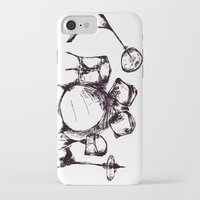drums iPhone & iPod Cases featuring Drums by Jake Stanton