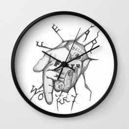 Jesus - Take My Helping Hand Wall Clock