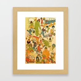 Let's Hit The Beach  Framed Art Print