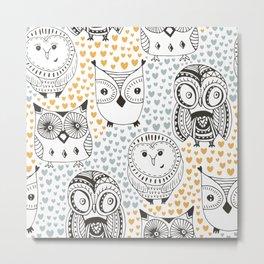 Owls Being Owls Metal Print
