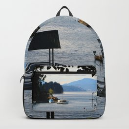 Harbour at Butchart´s Garden Backpack