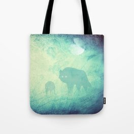 Wolf Pack Ghosts Tote Bag