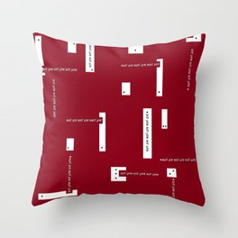 just sayin'in red Throw Pillow