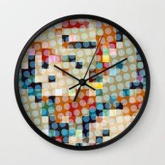 dots meet pixels Wall Clock