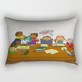 Stack of Books Kids Rectangular Pillow