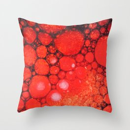 Blood Oil on Water Abstract Throw Pillow