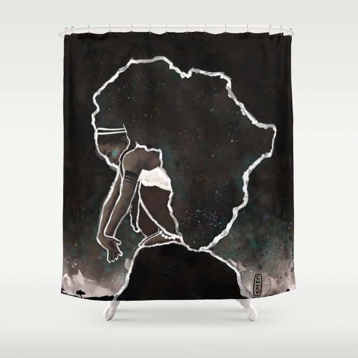 Africa Thinking Shower Curtain