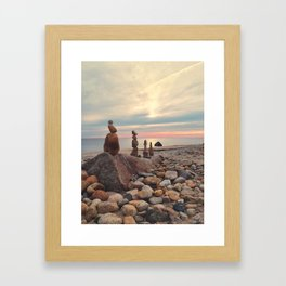 Rock Totems Framed Art Print