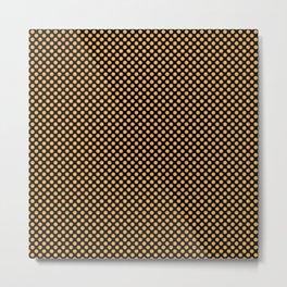 Black and Amber Polka Dots Metal Print