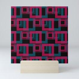 Geometric pattern . Leila . Mini Art Print
