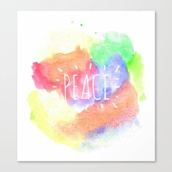 peace watercolour Canvas Print