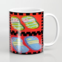 Flip Flops Times Four Coffee Mug