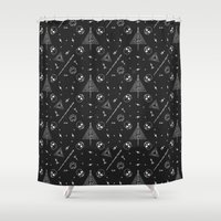 deathly hallows Shower Curtains featuring Deathly Hallows by Mírë