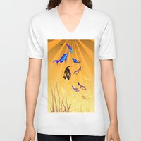 under the sea V-neck T-shirts featuring Under The Sea V2 by Robin Curtiss