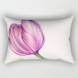 Purple Tulip in Colored Pencil Rectangular Pillow