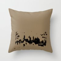 florence Throw Pillows featuring Florence by Irene Fratto Due