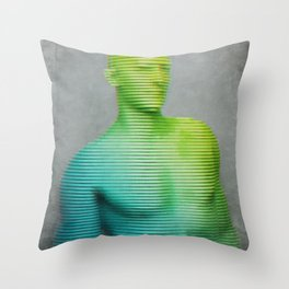 Anaglyph // Scanner Throw Pillow