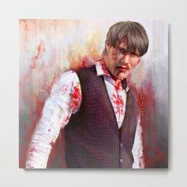 """Mads """"Hannibal"""" Mikkelsen  Metal Print"""