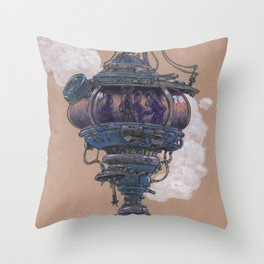Bubble in the Line Throw Pillow