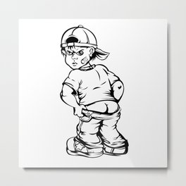rude boy showing his butt Metal Print