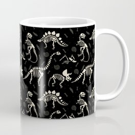 Dinosaur Fossils on Black Coffee Mug