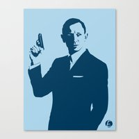 bond Canvas Prints featuring Bond by Ed Graves