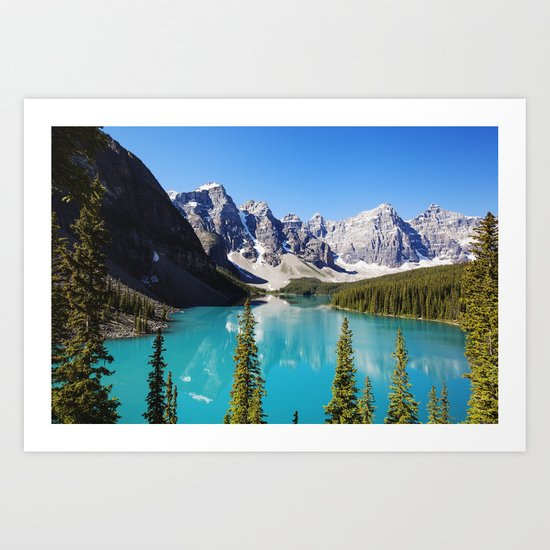Moraine Lake in Alberta, Canada Art Print