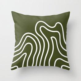 Leaf Thumbprint Throw Pillow