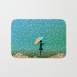 It's Raining Flowers Bath Mat