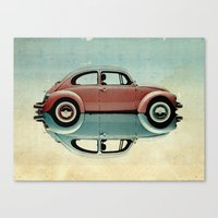 bug Canvas Prints featuring love bug by Vin Zzep