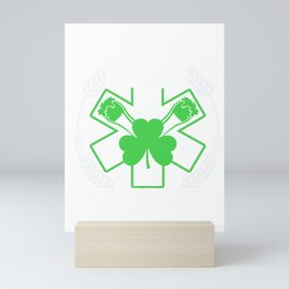 We Respond Three Leaf Clover St Patricks Irish Ireland Lacrosse Shamrock Gift Mini Art Print