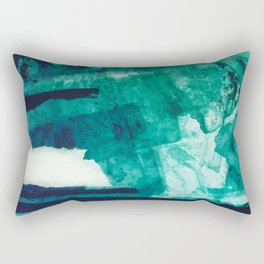 Teal Abstract Art, Teal Print, Teal Wall Art, Sea Green Printable Art, Teal Watercolor ,Abstract Wat Rectangular Pillow