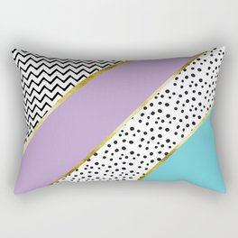 Happy Abstract | purple/cyan Rectangular Pillow