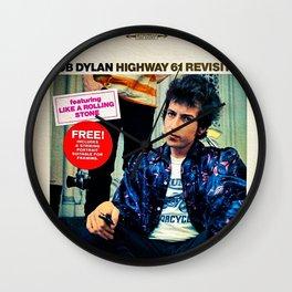 Vintage Bob Dylan Highway '61 Revisited Poster Wall Clock
