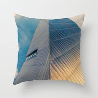 pyramid Throw Pillows featuring Pyramid by Cameron Booth