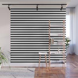 White Black Stripe Minimalist Wall Mural