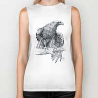 falcon Biker Tanks featuring Falcon illustration by Thubakabra