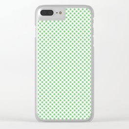 Summer Green Polka Dots Clear iPhone Case