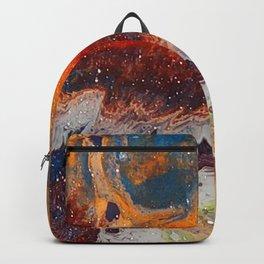 Fiery closeup Backpack