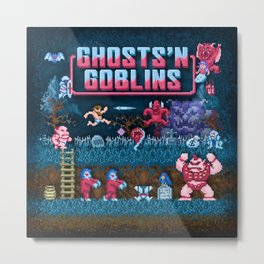 Goblins n' Ghosts Metal Print