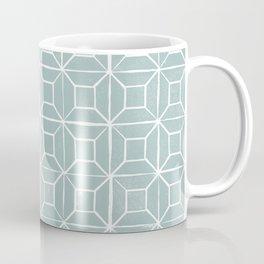 Geometric lino - egg blue Coffee Mug